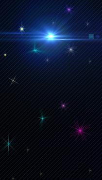 Iphone壁紙 夜空と星の光